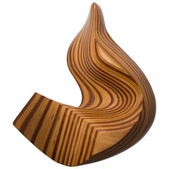 American Studio Craft Movement Abstract Wall Mounted Sculpture with Various Wood
