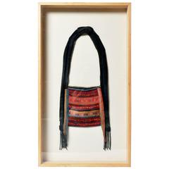 Framed Hand Embroidered Shoulder Bag