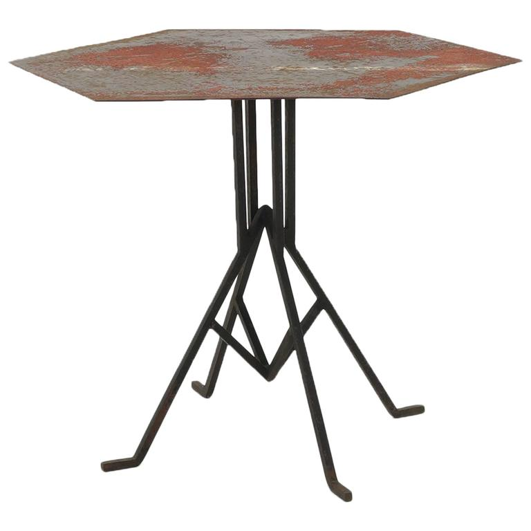 Beautifully Distressed Frank Lloyd Wright & Warren McArthur Biltmore Cafe Table