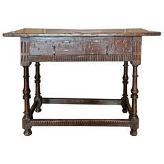 Spanish Oak Side Table