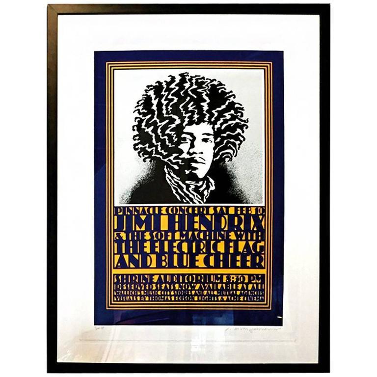 John Van Hamersveld Quot Pinnacle Hendrix Quot Concert Poster