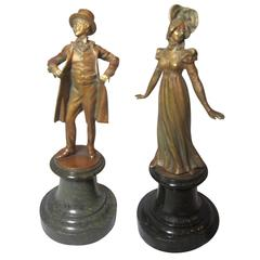 Pair of Exceptionally Detailed Bronze Statues