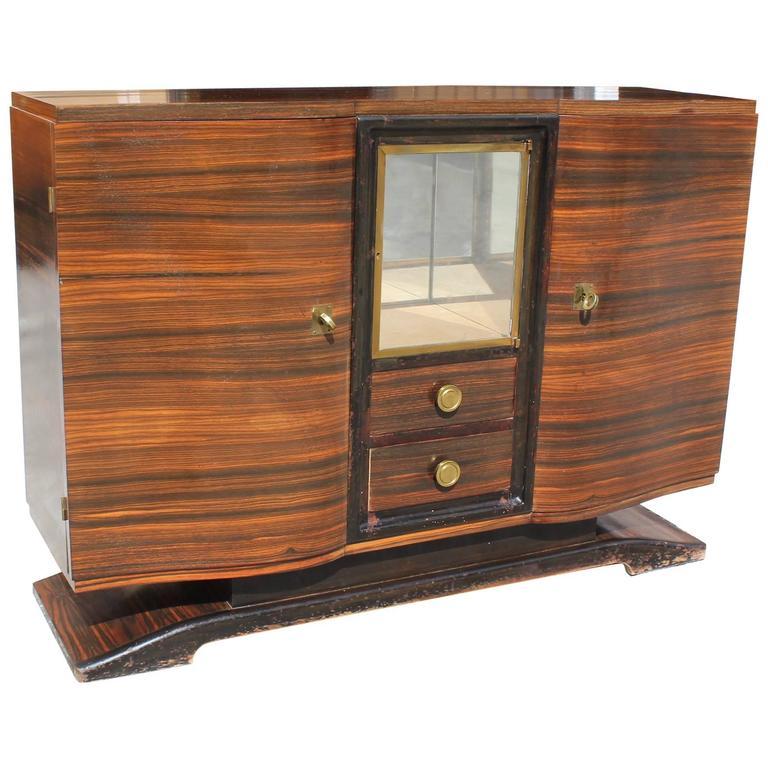 Masterpiece Art Deco Sideboard or Buffet Exotic Macassar Ebony by Maurice Rinck
