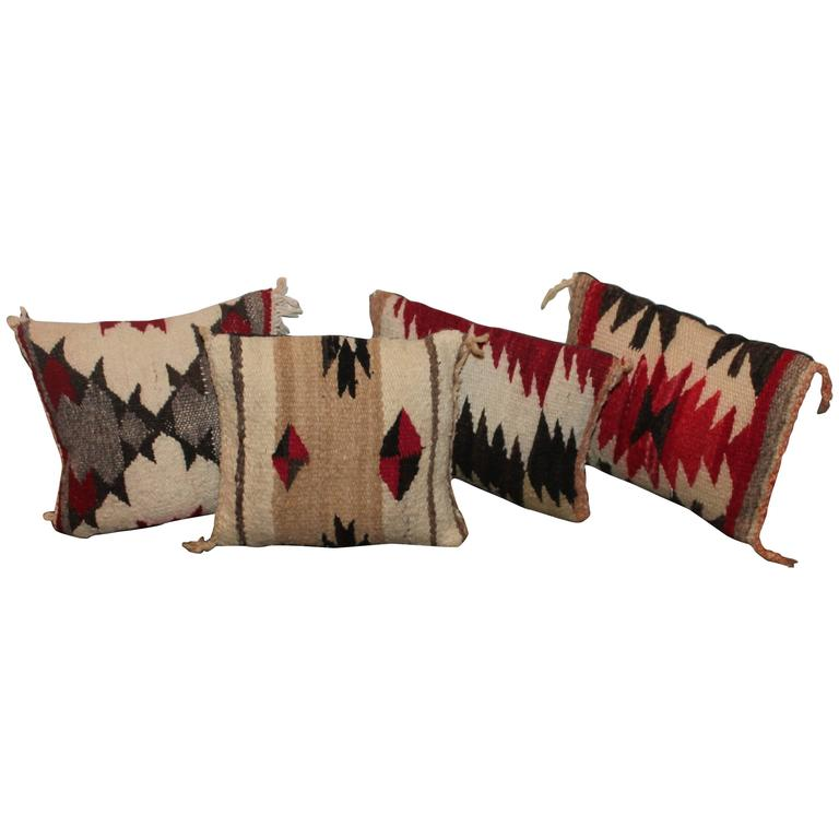 Collection Of Small And Unusual Navajo Weaving Pillows At