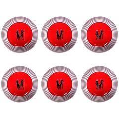 Six Gio Ponti for Richard Ginori Figural Plates