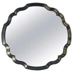 Scallope Shaped Polished Brass Mirror