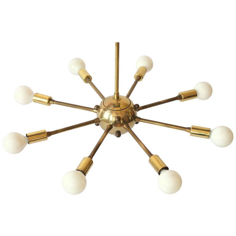 Eight-Arm Brass Sputnik, 1950s, USA