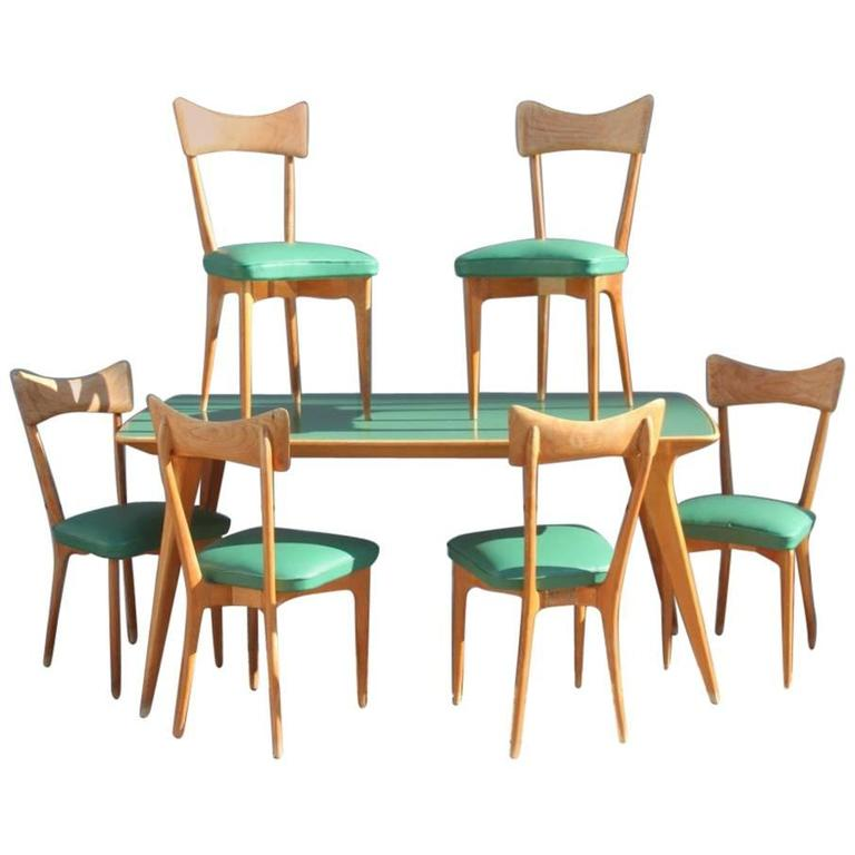 Table with Chairs Attributed To Ico Parisi Mid Century  : 6485123l from www.1stdibs.com size 768 x 768 jpeg 39kB