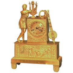 Early 19th Century French Ormolu Clock with Orpheus