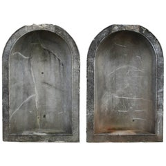 Magnificent Pair of Solid Marble Niches, circa 1835