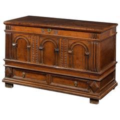 Early 18th Century Figured Oak Kist