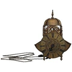 """Late Untouched 17th Century English So-Called """"Wing Lantern Lock"""" Signed"""