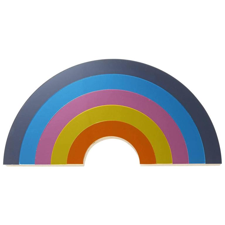 Rainbow Mirror in Perspex with Wood Backing by Bride & Wolfe, Australia