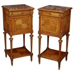 Continental Pair of Bedside Cabinets
