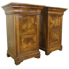 Pair of Antique Walnut Louis Philippe Nightstands