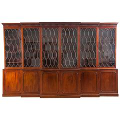 George III Double Breakfront Bookcase