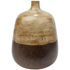 Italian Mid-Century Modern Two-Tone Pottery Vase by Alvino Bagni for Raymor