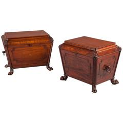 Matched Pair of George iv Irish Wine Coolers