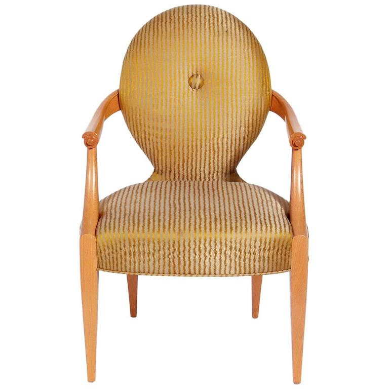 Elegant Armchair Designed By John Hutton For Donghia For Sale