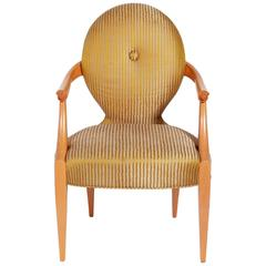 Elegant Armchair Designed by John Hutton for Donghia