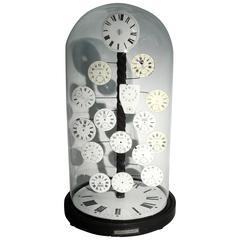 Cloche with Clock Decoration