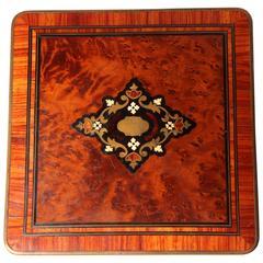 Jewelry Box with Inlay and Brass Trim