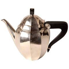 Silver Plated Tea Pot by Maurice Du Fresne