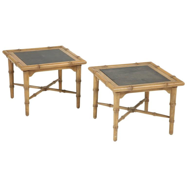 Pair of American Slate Top Tables 1