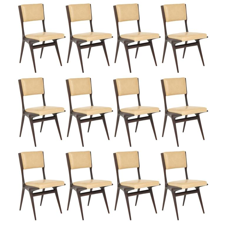 Set of 12 Carlo di Carli Dining Chairs 1