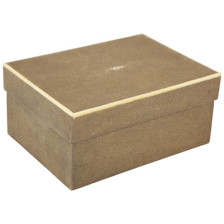 Shagreen Box with Bone Inlay, France