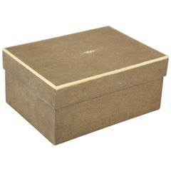 Shagreen Box with Bone Inlay
