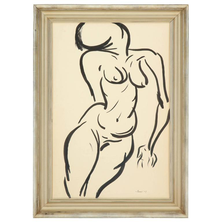 Nude Painting, C 1959