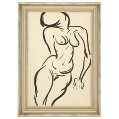 Framed Nude Painting, circa 1959