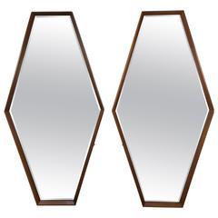 Pair of Edmond Spence Hexagon Mirrors