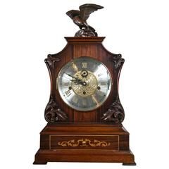 Mahogany and Rosewood Case Mantel Clock