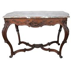 18th Century Continental Marble Topped Centre Table