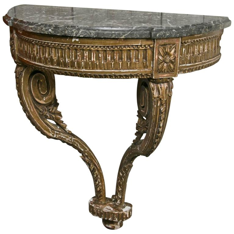 18th Century French Wall Mount Console For Sale at 1stdibs