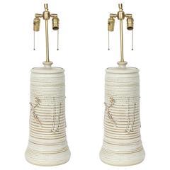 Philip Barkdull Handbuilt Ceramic Lamps