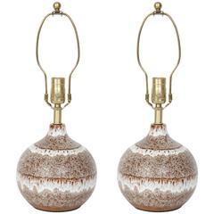 West German Glazed Spherical Lamps