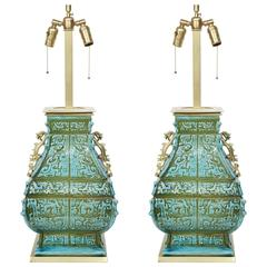 Tony Duquette Style Chinoiserie Lamps