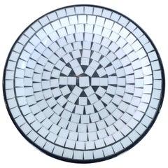Medium Scale Danish Tile Mosaic Plate or Platter