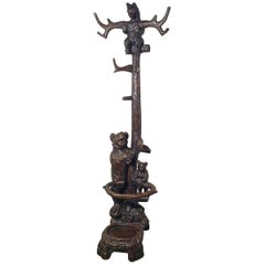19th Century Black Forest Carved Bear Hall Stand, Three Bears Coat Stand