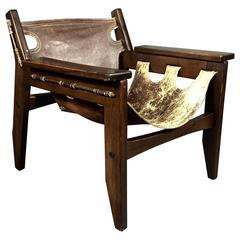 "Sergio Rodrigues ""Kilin"" Chair, Jacaranda and Leather, Brazil, 1973"