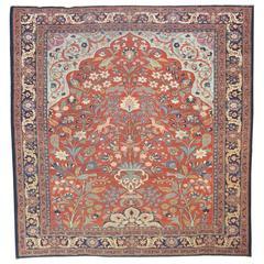 Pictorial Antique Persian Tabriz Carpet