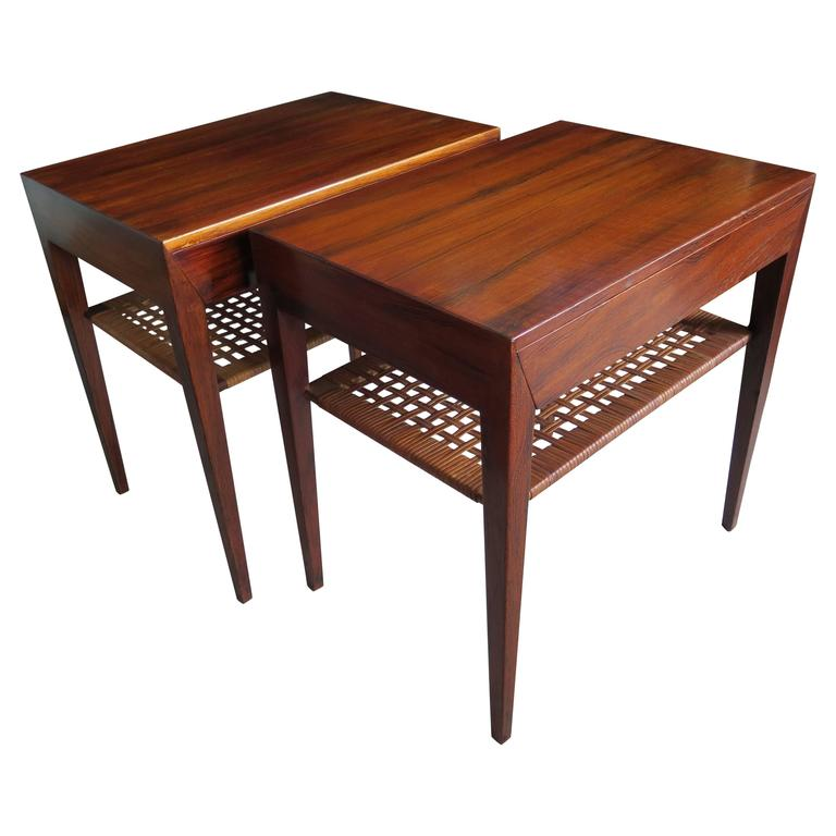 Pair of Severin Hansen End Tables or Nightstands for Haslev 1