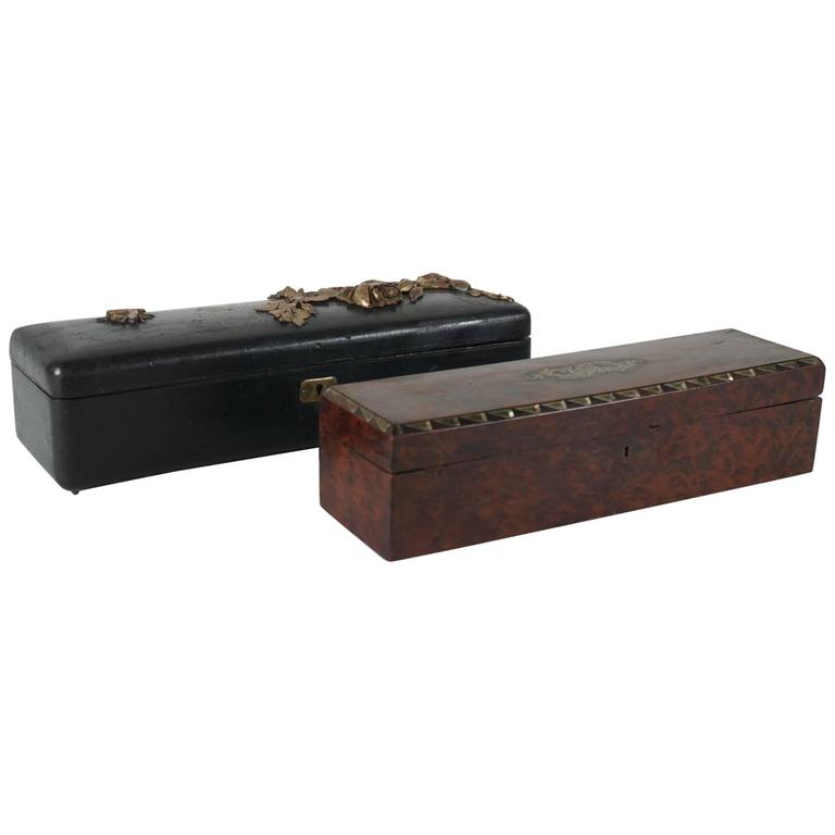 Two French 19th Century Glove Boxes For Sale