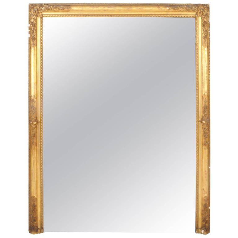 French Giltwood Console Mirror