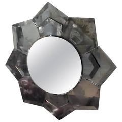 Starburst Mirror with Aged Mirror Frame