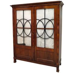 1830 Walnut Austrian Biedermeier Bookcase