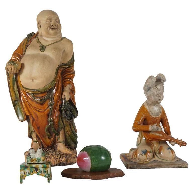 20th Century Sancai Glazed Porcelain Items from the Estate of C. Z. Guest